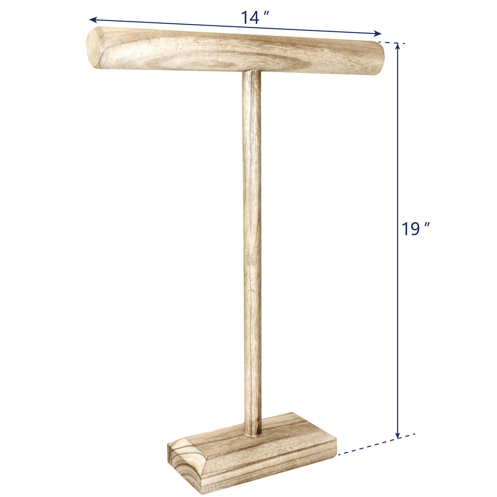 Ikee Design® Antique Wooden Handmade Tall T-Bar Jewelry Display Stand