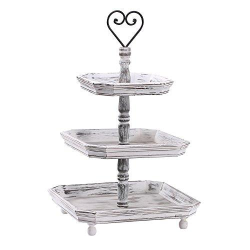 Ikee Design® Antique Wood Rustic Style Triple Tiered Display & Organizing Tray | Ikee Design