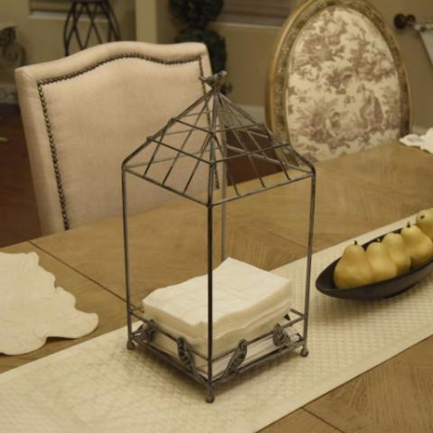 Ikee Design®Rustic Style Metal Wire Plant & Tissue Holder with Pot | Ikee Design