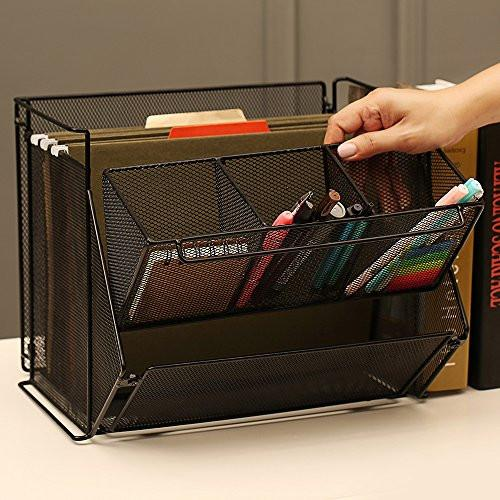 Ikee Design® Wire Metal Foldable Desk Supply Organizer