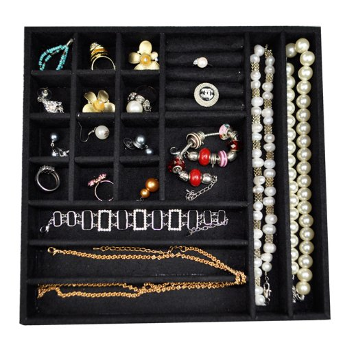 Ikee Design® Stackable Jewelry Display Tray 3 Pieces Set