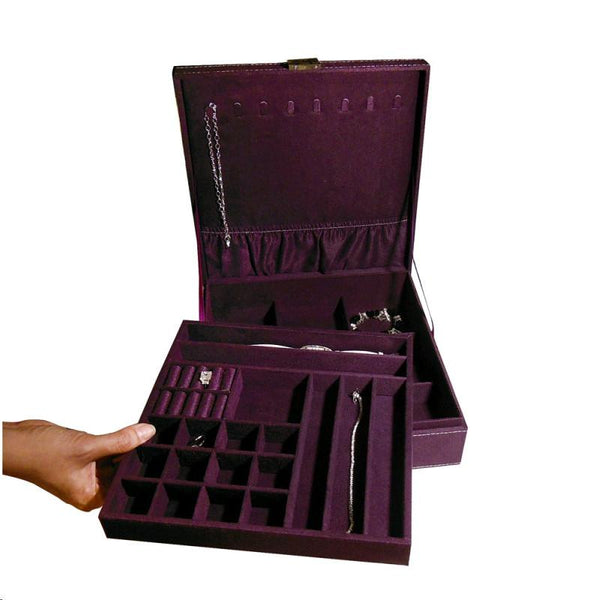Ikee Design® Two Level Jewelry Traveling Case