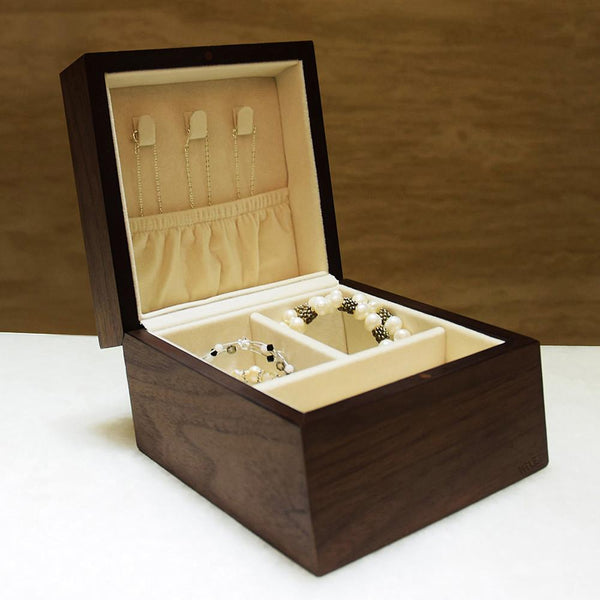 Ikee Design Wooden Jewelry Box Organizer Storage for Necklace, Bracelet, Earrings, Rings | Ikee Design