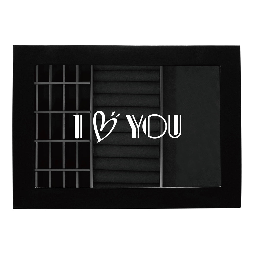 Ikee Design® Personalized Accessories Storage w/ Text Engraving, Black