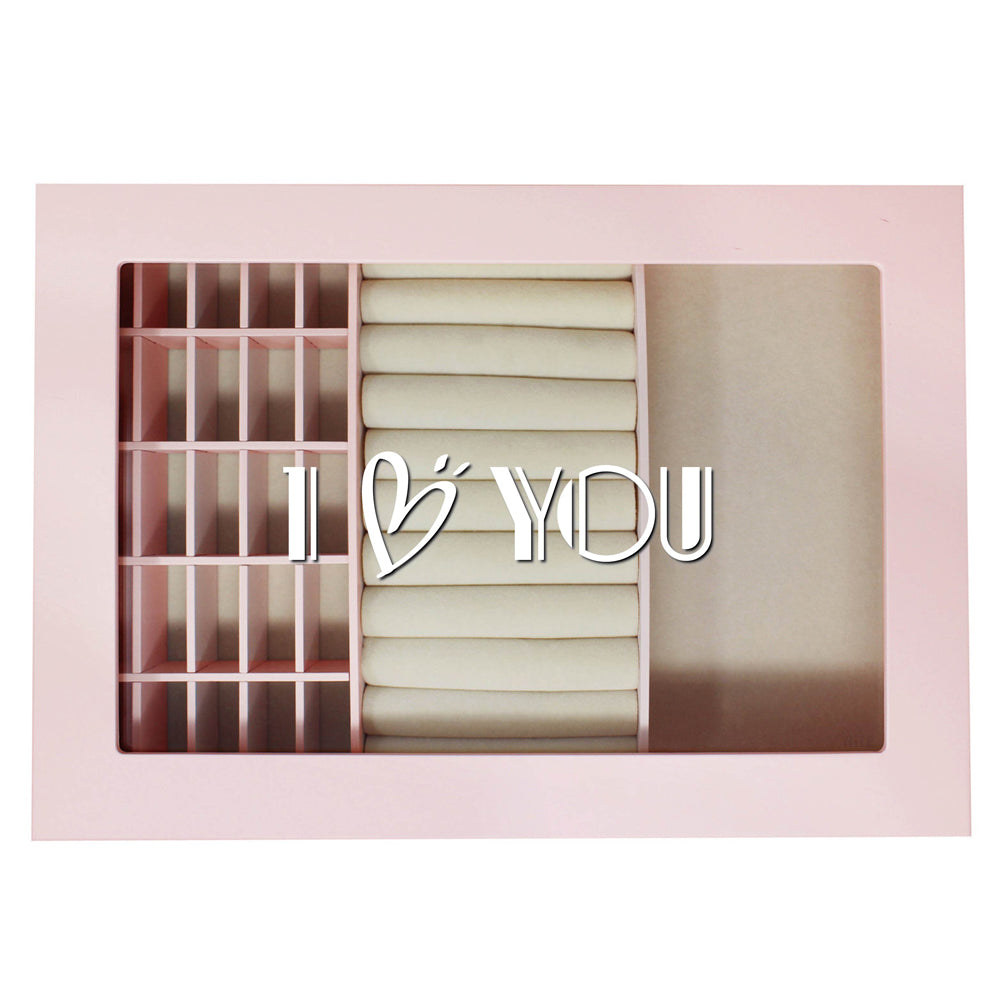 Ikee Design® Personalized Accessories Storage w/ Text Engraving, Pink