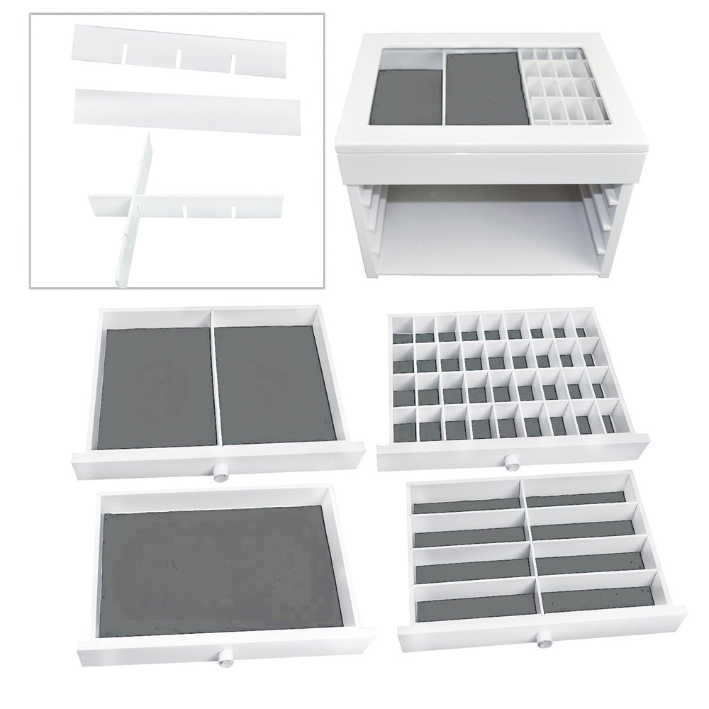Ikee Design® Personalized Accessories Storage w/ Text Engraving, White
