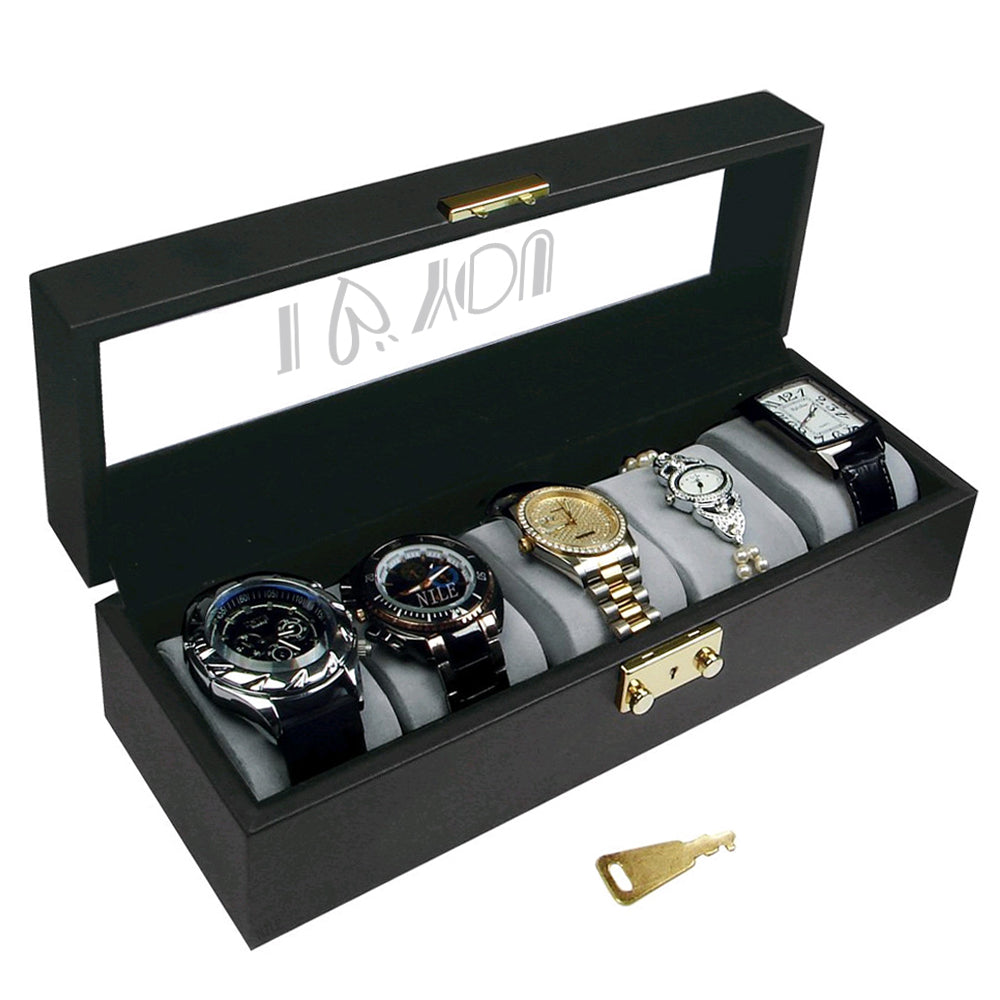 Ikee Design® Personalized Large Watches Case with Text Engraving
