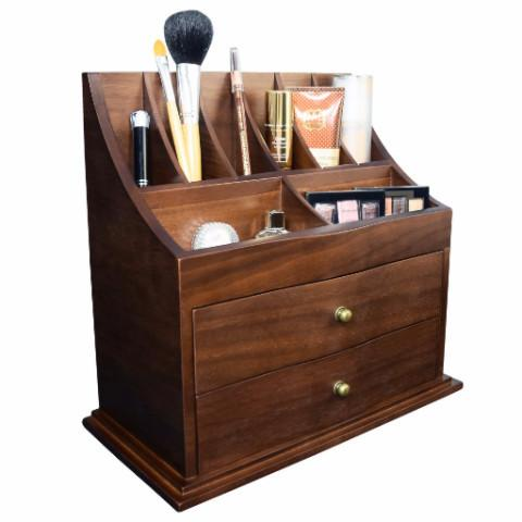 Ikee Design Premium Wooden Cosmetic Storage Office Organizer Jewelry Box