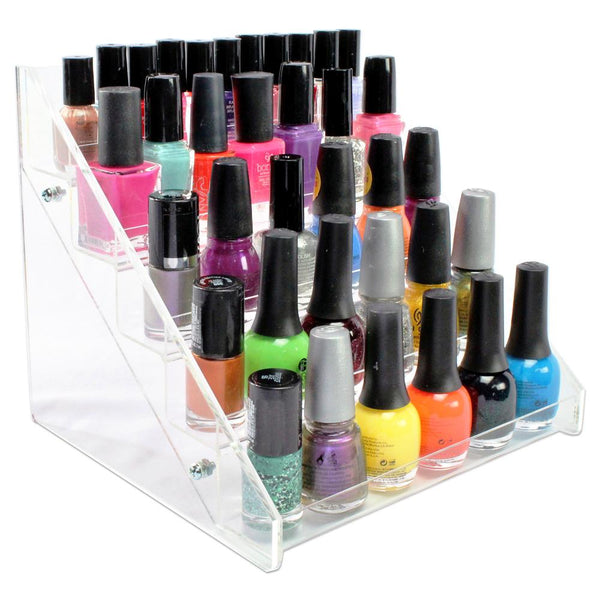Ikee Design® Premium Acrylic 5-Shelf Nail Polish Display Rack for 30 Bottles