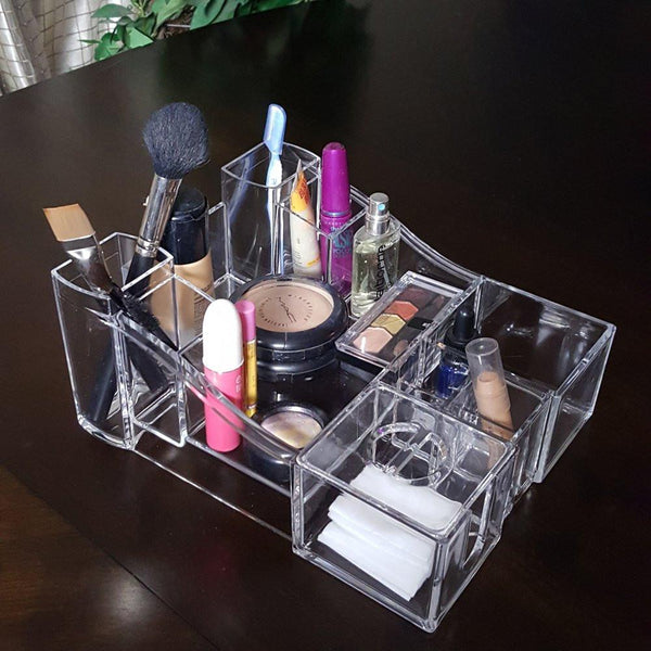 "Ikee Design®  Luxury Cosmetic Make Up Organizer 10""W x 8""L x 4 1/2""H"