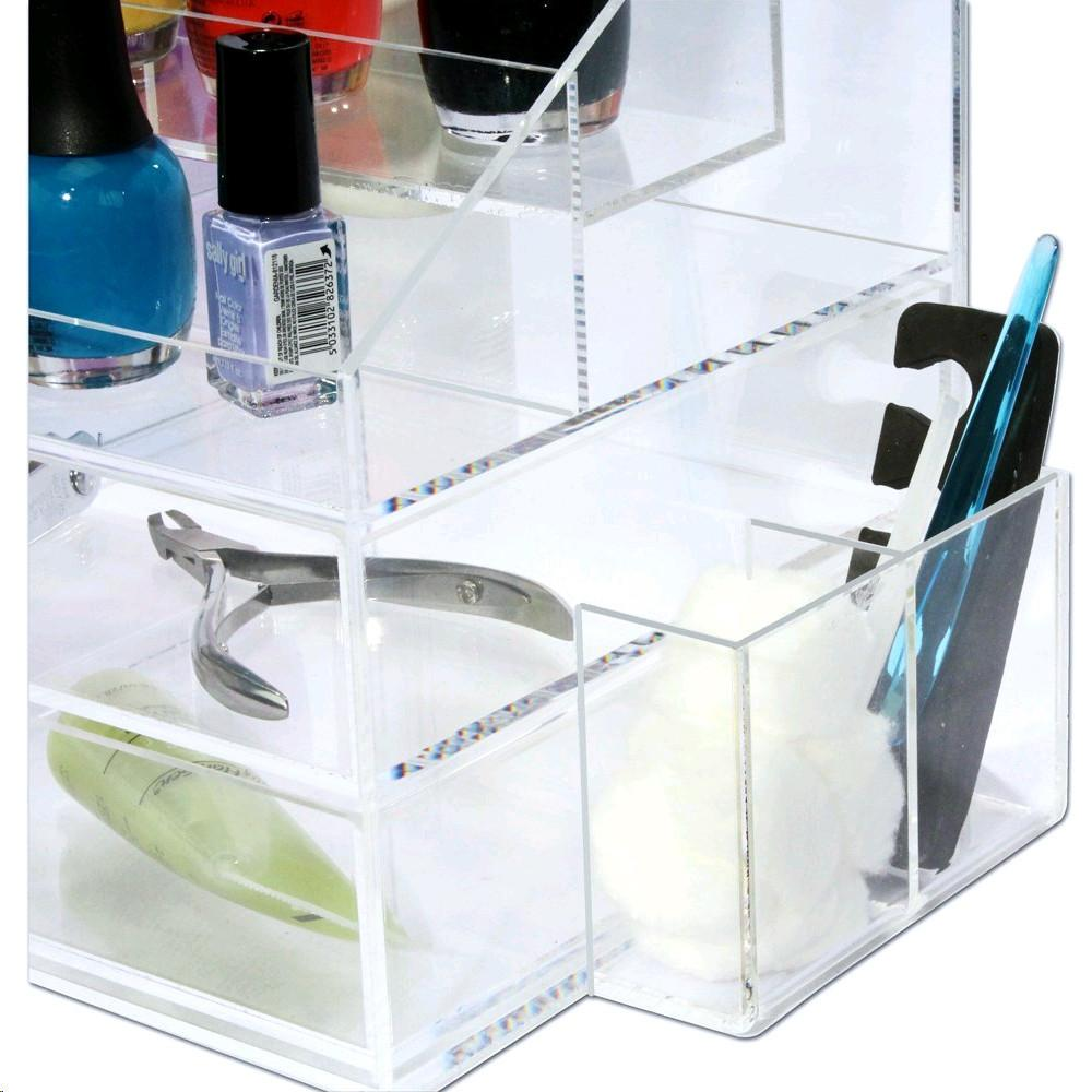 Ikee Design® Premium Acrylic Nail Polish Holder Makeup Organizer