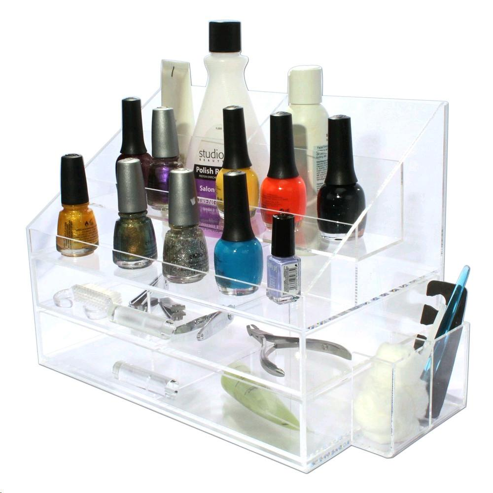 IKEE DESIGN®: Premium Acrylic Nail Polish Holder Makeup Organizer
