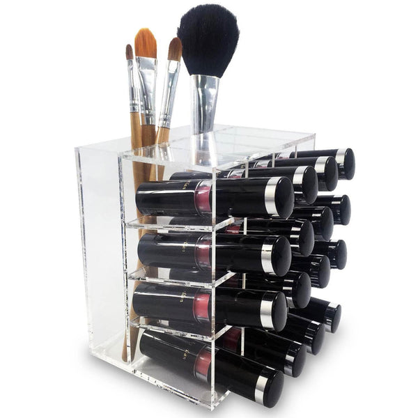 Ikee Design®Acrylic 16 Lipstick Rack Makeup Organizer Cosmetic Storage Brush Holder | Ikee Design