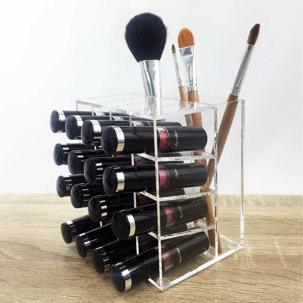 Ikee Design® Premium Acrylic Lipstick & Brush Holder Makeup Organizer