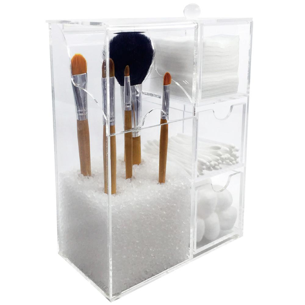Ikee Design® Premium Acrylic Makeup Brush Holder Cosmetic Tools Case
