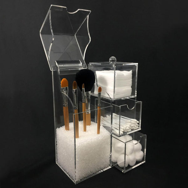 Ikee Design®Acrylic Makeup Brush Holder Cosmetic Organizer Storage Case Box | Ikee Design