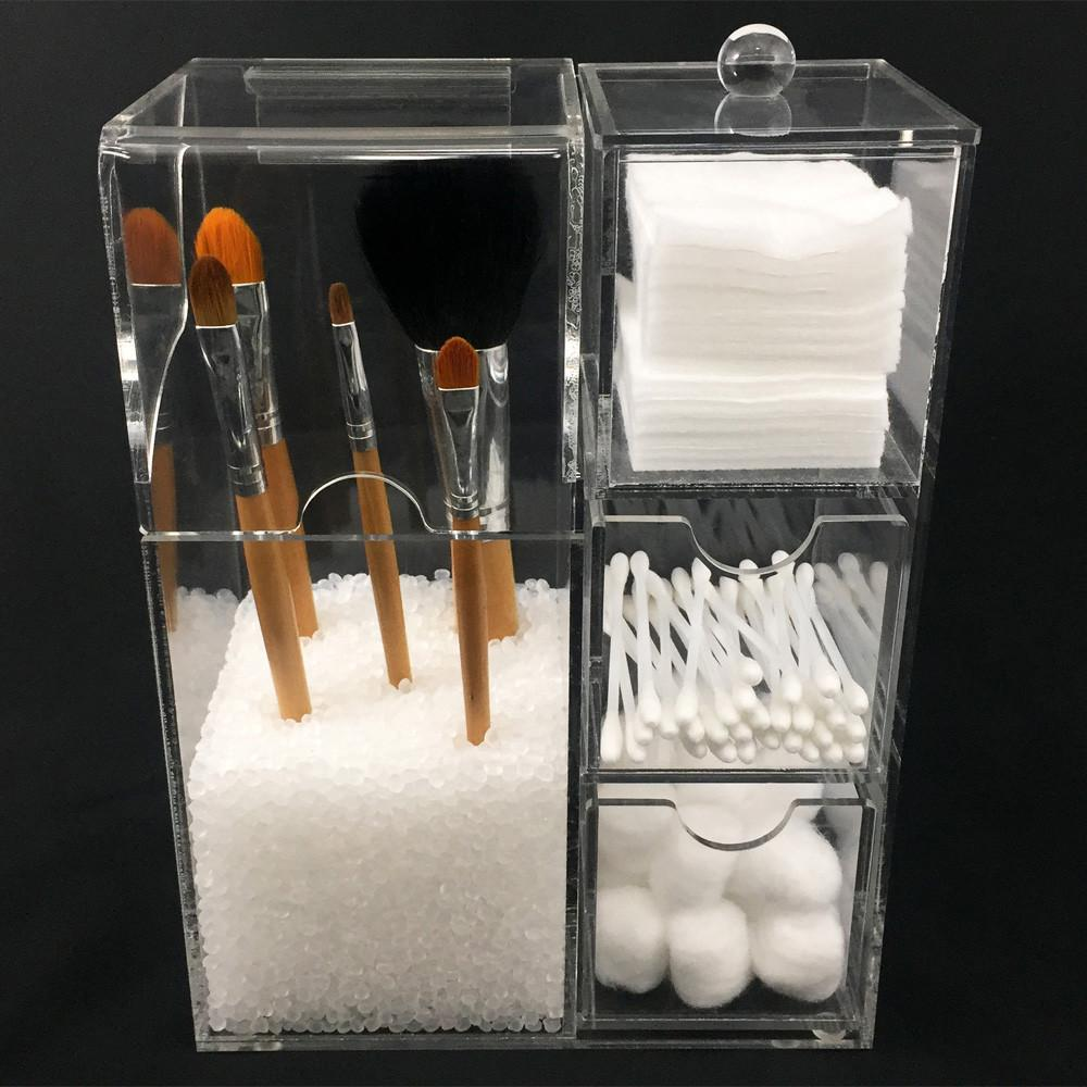 Ikee Design Premium Acrylic Makeup Brush Holder Cosmetic Tools Case ...