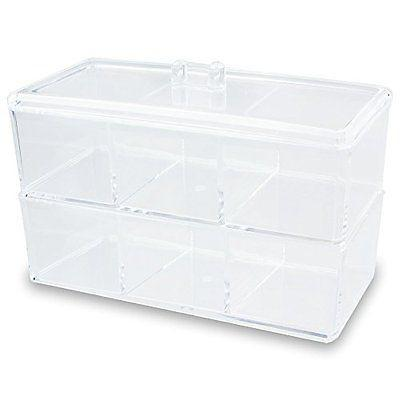 Ikee Design® 2 Layer Acrylic Cosmetic and Jewelry Organizer with 6 Compartments | Ikee Design