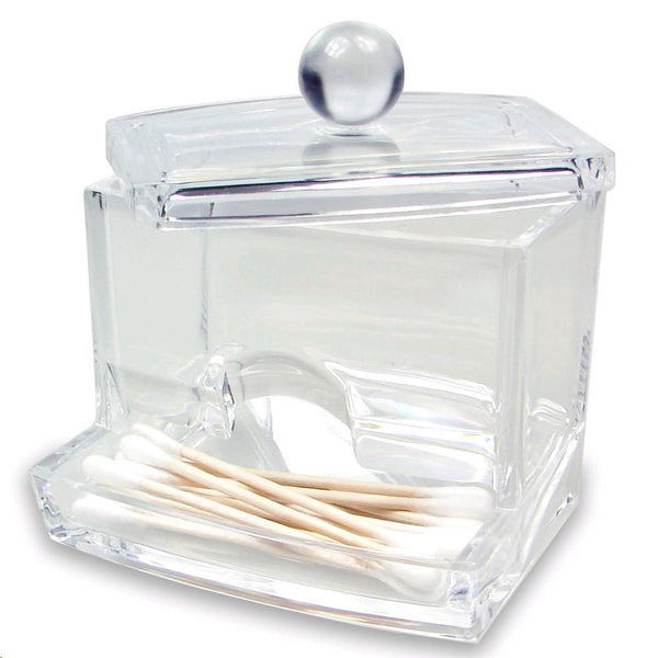"Ikee Design® Acrylic Box For Cotton Swabs 3 1/2""W x 3""D x 4""H 