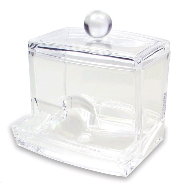 "Ikee Design® Acrylic Box For Cotton Swabs 3 1/2""W x 3""D x 4""H"