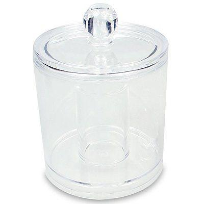 "Ikee Design® Acrylic Accessories Jar. 3 3/4"" W x 5"" H 