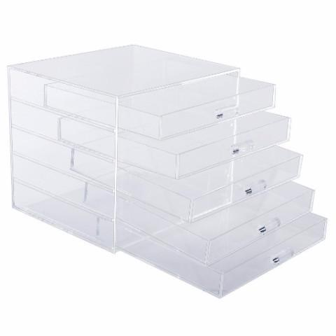 Ikee DesignAcrylic 5 Drawer Cosmetic and Jewelry Organizer Display Ch