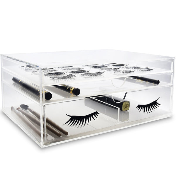 Ikee Design® Premium Acrylic False Eye Lashes Extensions Holder Makeup Organizer Storage