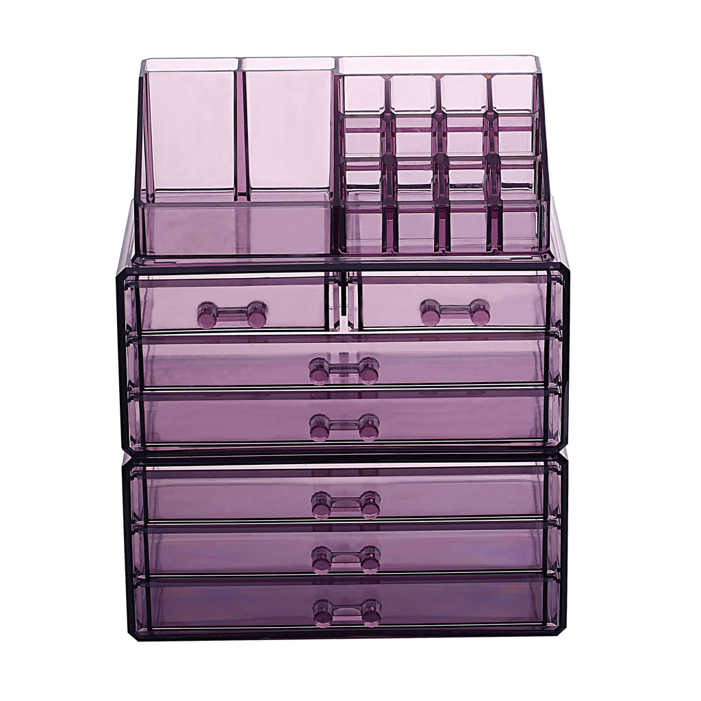 IKEE DESIGN®: Acrylic Makeup Case Jewelry Organizer Three Pieces Set