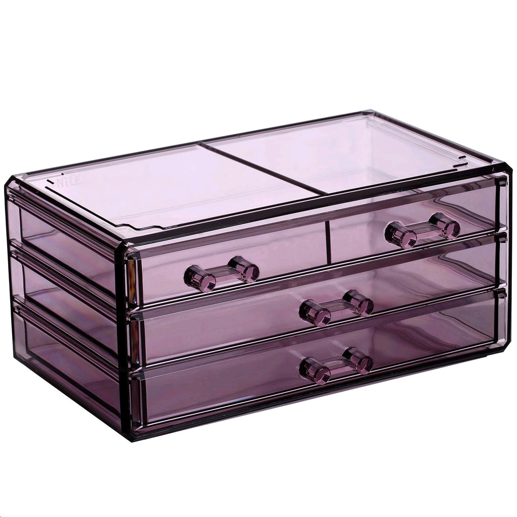 IKEE DESIGN Makeup Case & Jewelry Organizer 3 Piece Set
