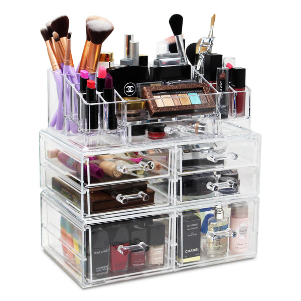 Ikee Design® Premium Acrylic Makeup Storage Organizer, 3-Piece Set
