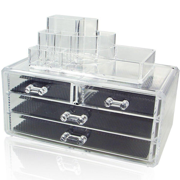 Ikee Design® Acrylic Makeup Storage Box Jewelry Organize Two Pieces Set