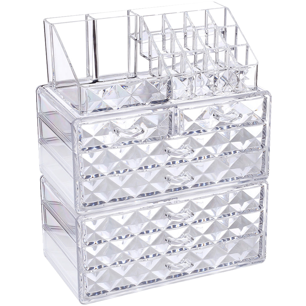 Ikee Design® Diamond Pattern Jewelry & Cosmetic Organizer 3 Pieces Set