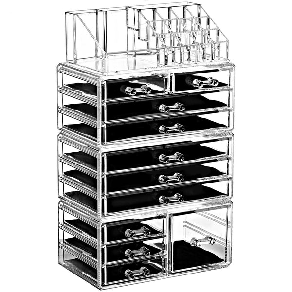 Ikee Design®Acrylic Jewelry and Makeup Organizer Storage Drawer Four Pieces Set | Ikee Design