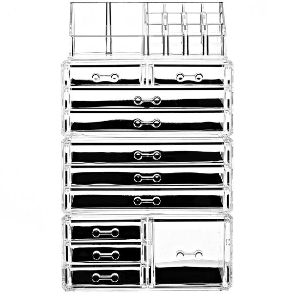 Ikee Design®Acrylic Jewelry and Makeup Organizer Storage Drawer Four Pieces Set