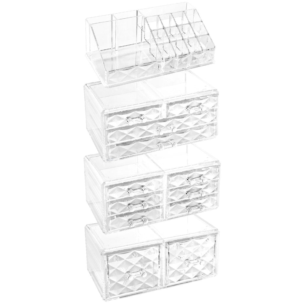 Ikee Design Cosmetic Makeup & Jewelry Storage Display Case, 4 PCS Set