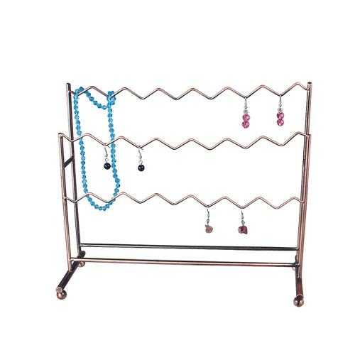 Metal Wire Earring Display, 11 1/2''W x 4''D x 9 3/4''