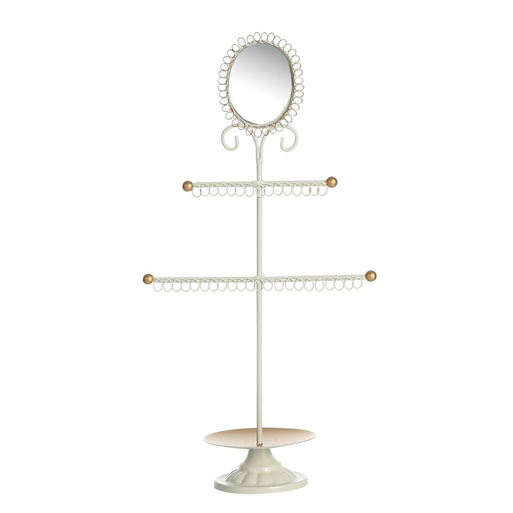Ikee Design Metal Jewelry Display Stand Organizer with Mirror