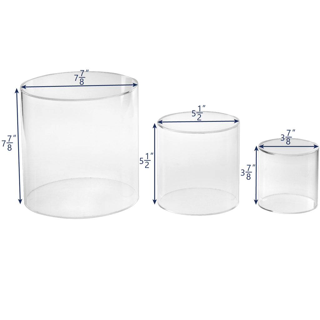 Ikee Design®Large Acrylic Decorative Cylinder Riser Round Display