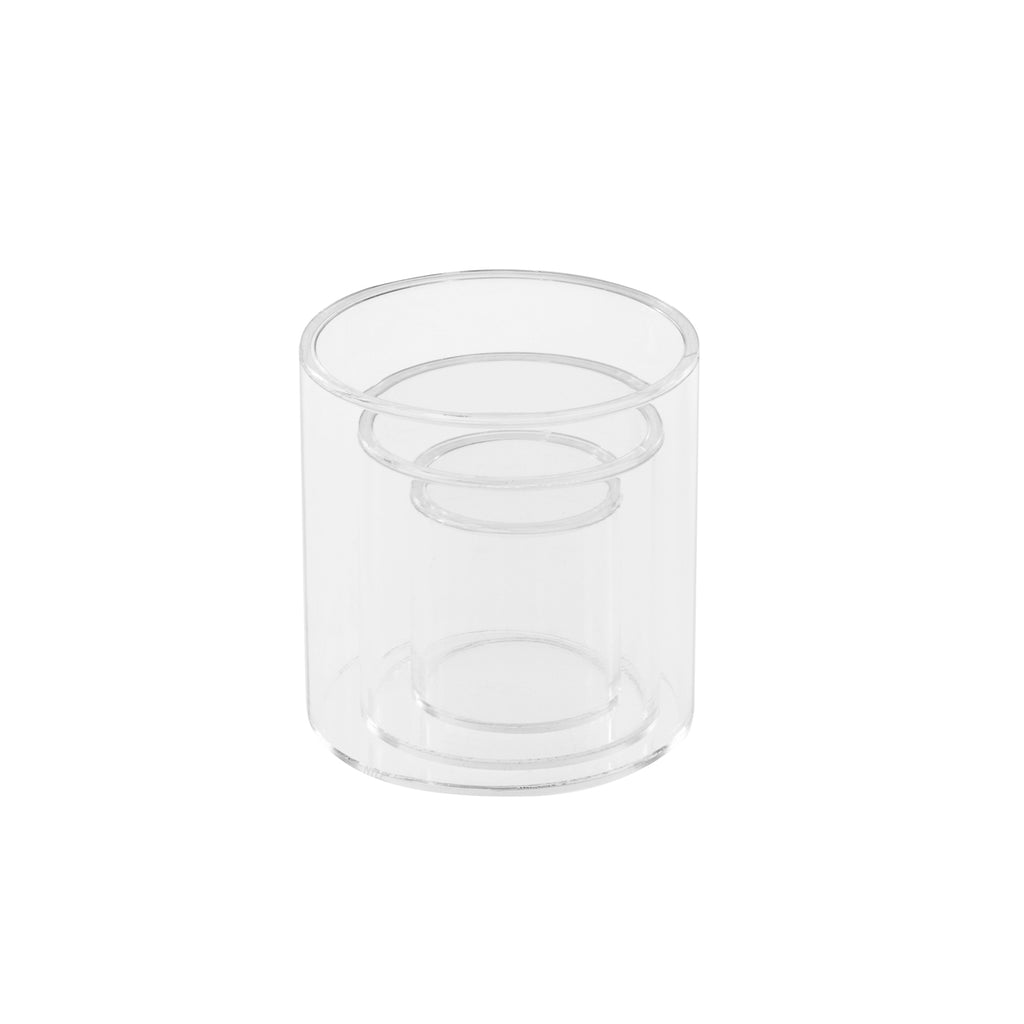 Ikee Design®Small Acrylic Decorative Cylinder Riser Round Display