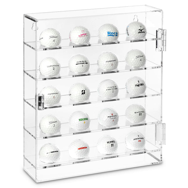 Ikee Design®Acrylic Mountable Golf Balls Display Case Cabinet Wall Rack Holder