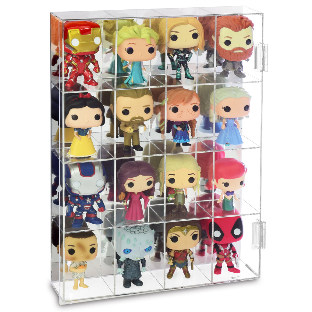 Ikee Design®Acrylic Display Organizer Box Dustproof for Funko, Pop Figure Display