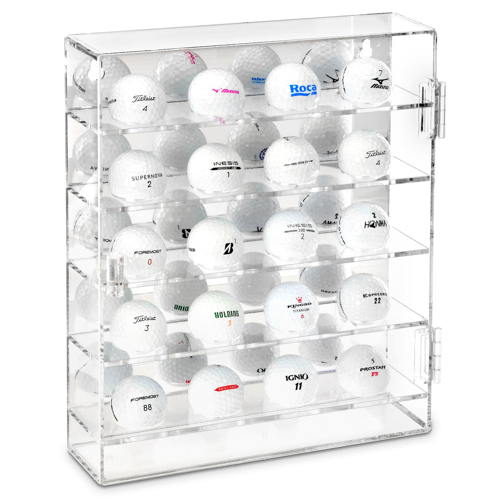 Ikee Design® Acrylic Mountable Golf Balls Display Case Cabinet Wall Rack