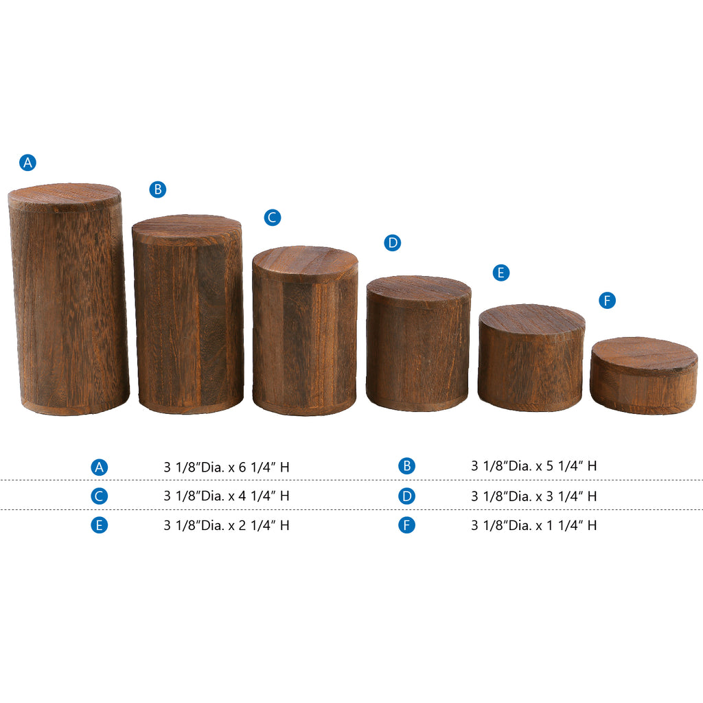 Ikee Design® Wooden 6 Pcs Round Risers for Display Jewelry and Accessories