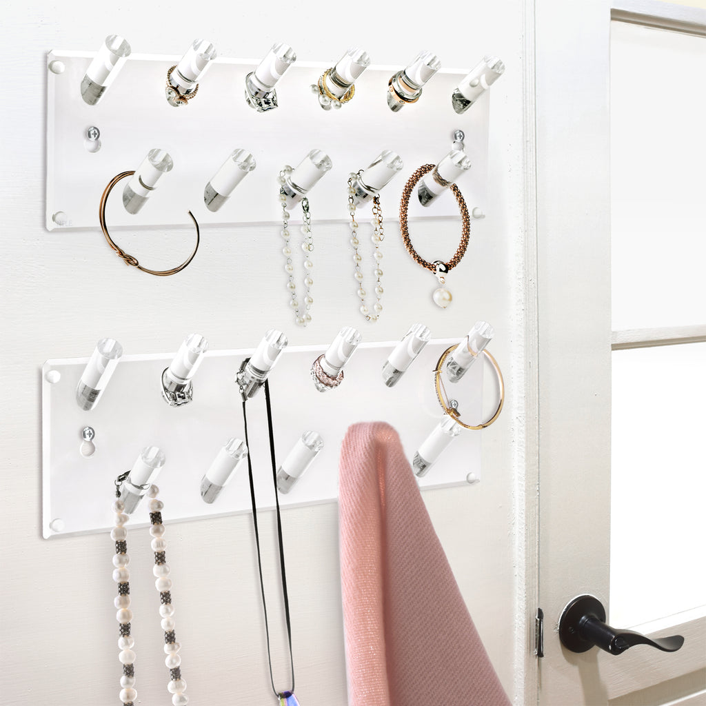 IKEE DESIGN®: Acrylic Multipurpose Holder Rack for Wall & Tabletop