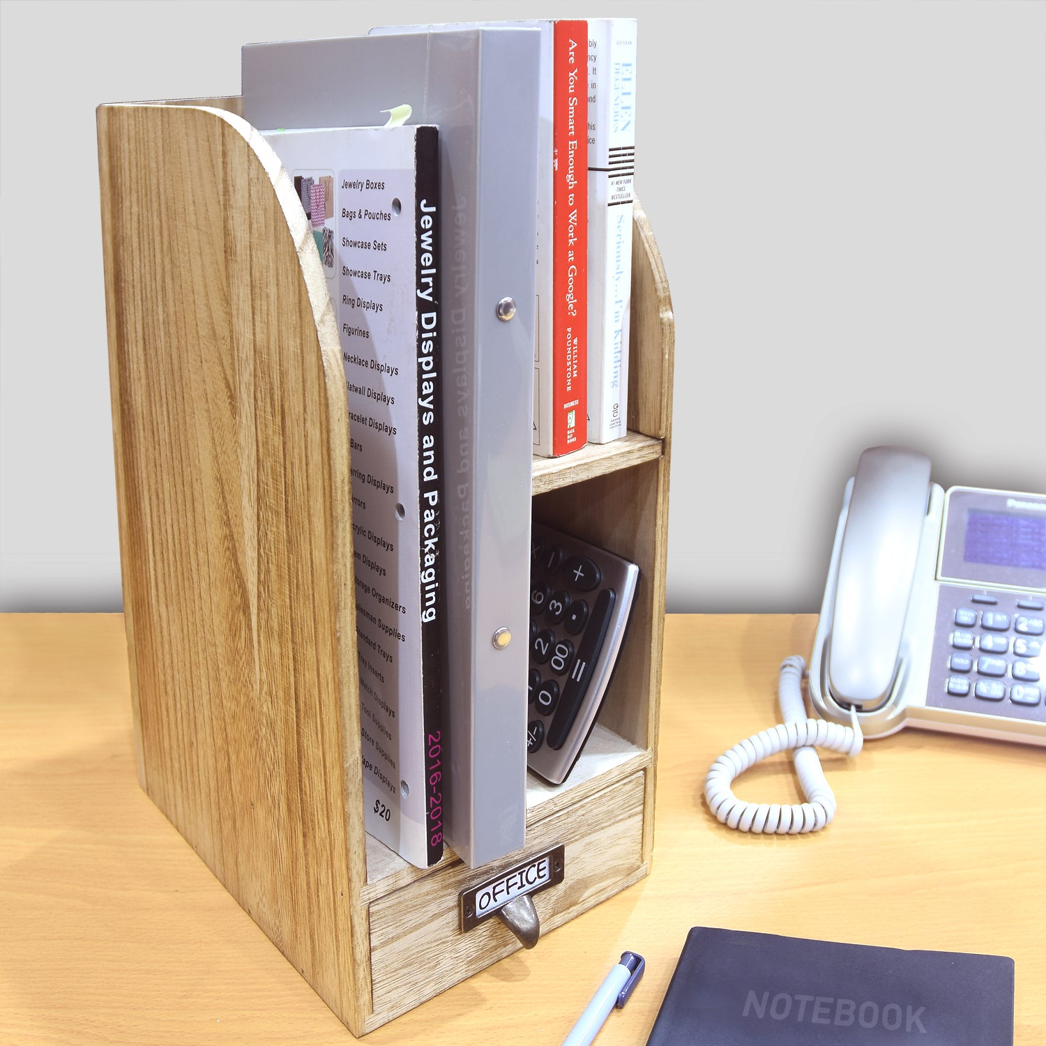 mounted control desk organizer wall view kit ofc storage larger shelf and office organization