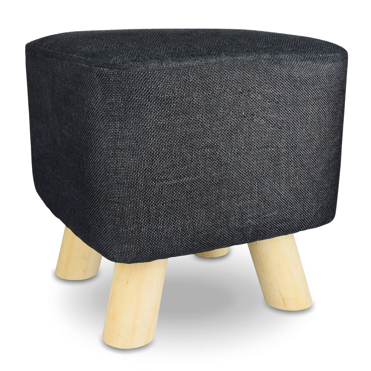 ikee design round pouf upholstered ottoman foot rest stool. Black Bedroom Furniture Sets. Home Design Ideas