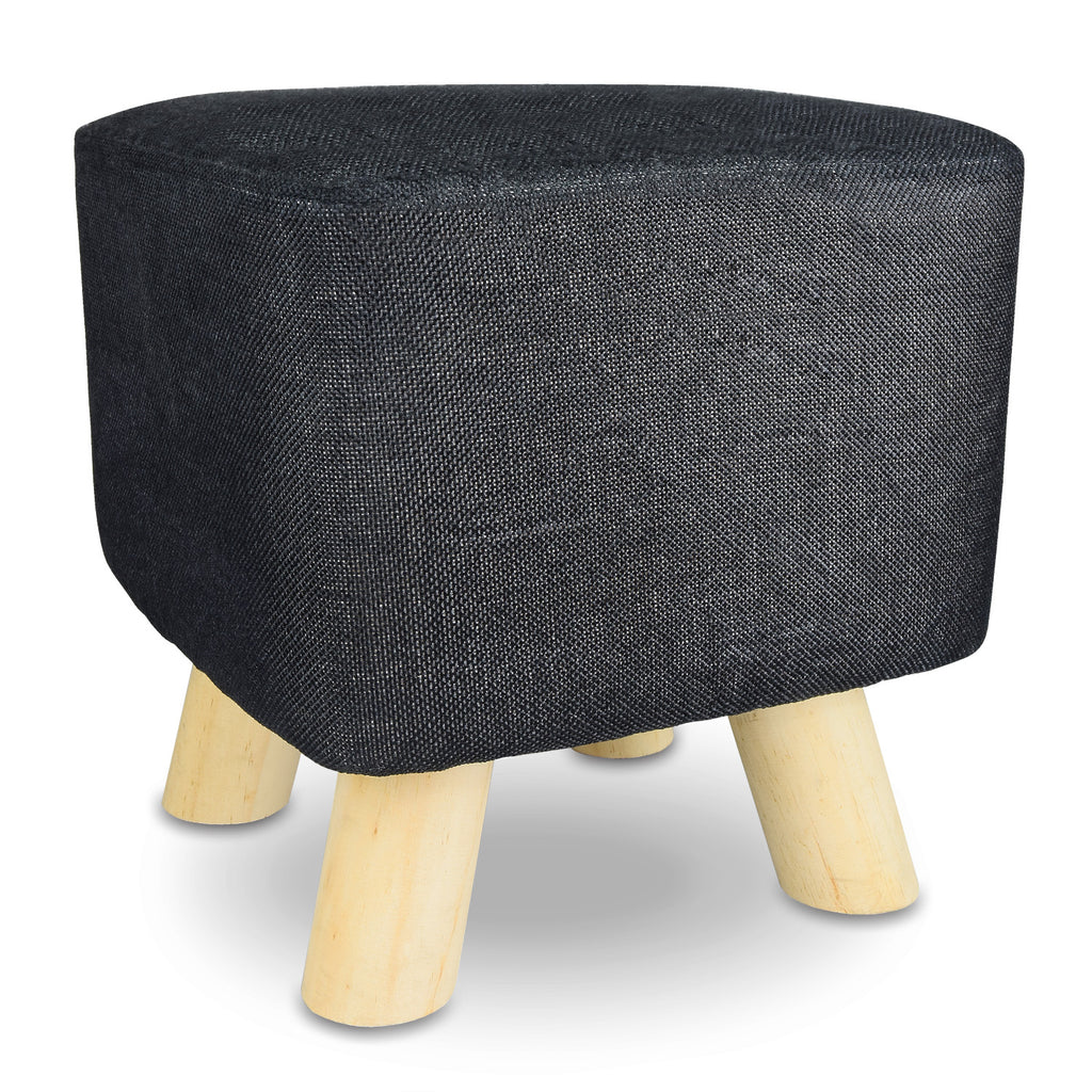 Ikee Design® Round Pouf Upholstered Ottoman Foot Rest Stool With Removable Fabric Cover