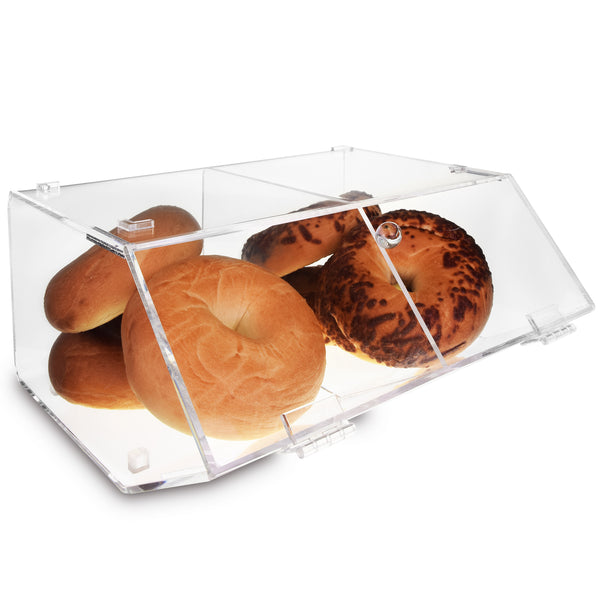 Ikee Design® Acrylic Stackable Bakery Display Case with Divider Save Help Settings
