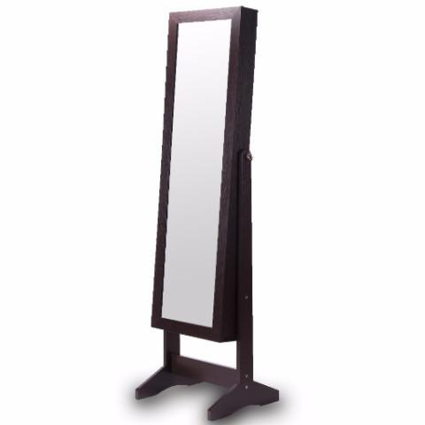 Ikee Design® Wooden Jewelry Cabinet with Full Length Mirror Save Help Settings