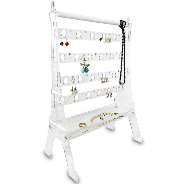 Ikee Design®Acrylic Eiffel Tower 44 Pairs Earring Display. Made In Taiwan